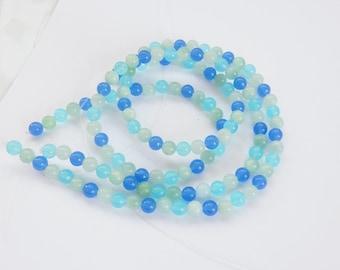 16a74d071d436 6mm Azure Quarz Runde Perlen