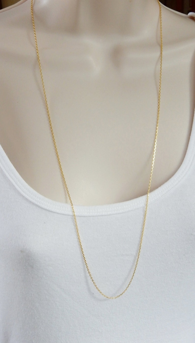 Available in 16,18,20,24 and 30 lenghts laser cut cable chain finished necklace chain Gold plated .925 sterling silver Gold Vermeil