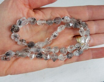 Herkimer Diamond Nuggets, Raw Herkimer Diamond nugget  Beads, ( 8-13mm x6-8mm)