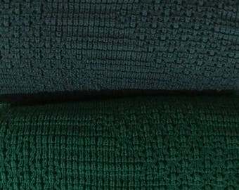 "Afghan, Throw Blanket, Knitted, ""Hunter Green"" or ""Forest Green"""