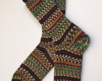 Regia Ladies' Wool Socks, Design Line, Colorations Color by Kristine Nicholas