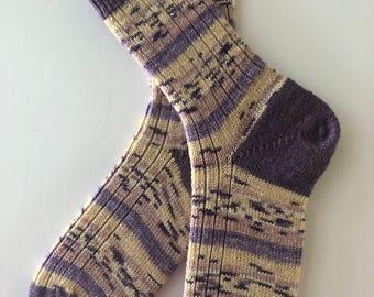 Knitted Socks , Women,  Wool, Opal Rainforest