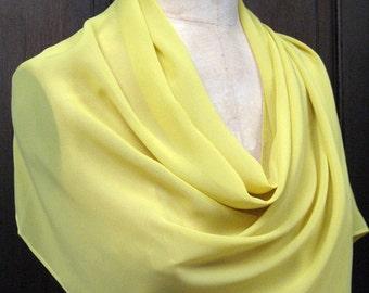Soft Yellow Chiffon Shawl Wrap Scarf