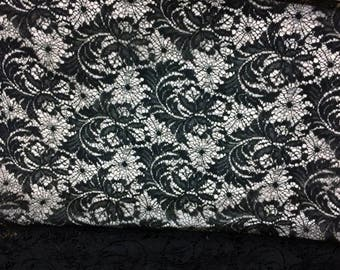 Chantilly Black Lace Fabric Sale