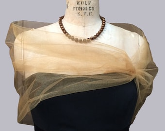Tulle Shear Srug,  Tulle Stole, Evening Wrap