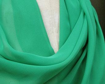 Green Chiffon Shawl Wrap Scarf SALE