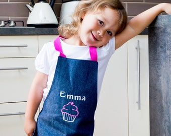 Apron for Girls with Name - Kids Apron - Childrens Apron - Cookery