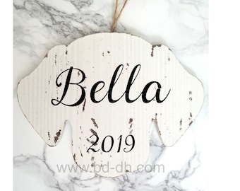 Large Personalized Dog Ornament - Customize with Name and Year