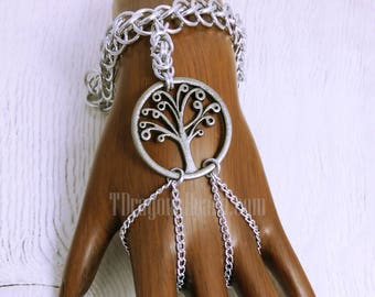 Hand Blossom with Tree of Life Charm