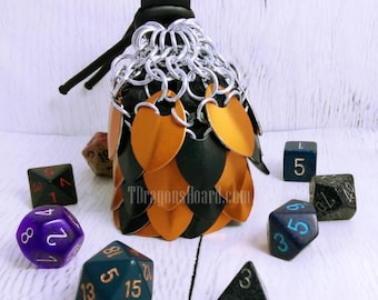 MADE TO ORDER - Small Scalemaille Dice Bag