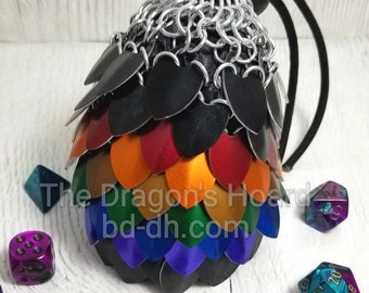 MADE TO ORDER - Rainbow Scalemaille Bag - Choice of Size