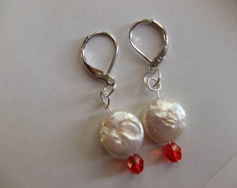 Pearls and red Crystals~Full Moon Leo love
