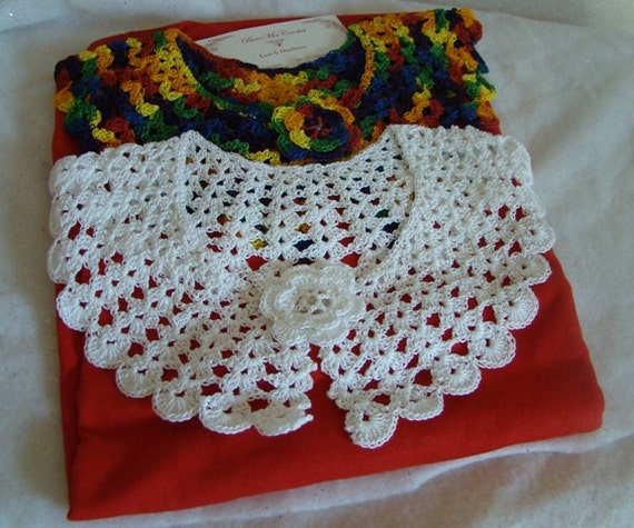 Crochet collar, Peter Pan Collar, lace neckpiece, crochet necklace, cotton crochet collar, handmade cotton necklace, dress accessory
