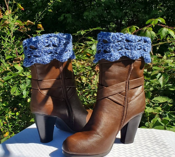 Crochet boot cuffs, crimson red ankle warmers, handmade boot warmers, boot socks, boot accessories, fall fashion