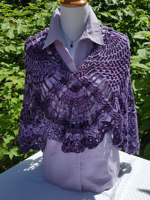 Wedding shawl, red carpet fashion shawl, bridesmaids wrap, two-way wrap, boho chic shawl, bohemian wrap, purple passion shawl wrap