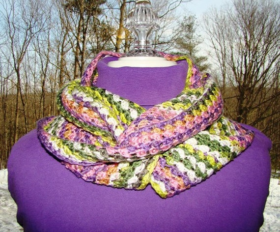 Easter parade infinity crocheted scarf