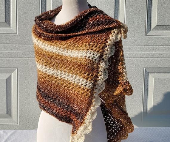 Warm fall shawl, Bohemian shawl, bridal accessory, Victorian lace shawl, wedding accessory, bridesmaid shawl wrap, country wedding accessory