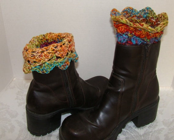 Boot cuffs, crochet boot cuffs, boot toppers, ankle warmers, scallop boot cuffs, boot socks, boot accessories, winter accessories