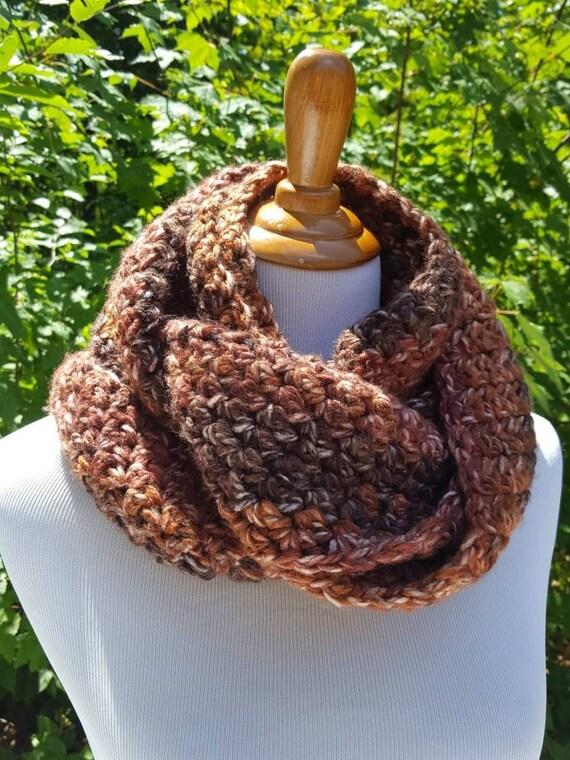 Chunky neck warmer, warm winter scarf, infinity neckwarmer, chunky crochet scarf, cowl crochet scarf