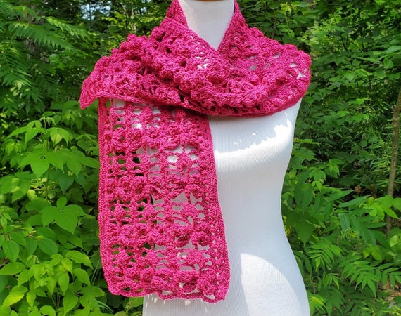 Outlander inspired raspberry dragonfly scarf, OOAK scarf, fall neck wrap, neckwarmer, fall scarf, crochet scarf, women's fashion