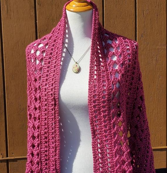 Crochet shawl, wedding shawl, rectangle shawl wrap, bridesmaids wrap, prayer shawl, Mothers Day caplet, bohemian wrap, boho chic shawl, RTS