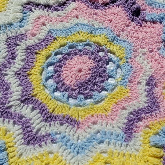 Crochet star baby blanket, baby afghan, newborn baby shower gift, baby girl blanket, receiving blanket, stroller blanket, READY TO SHIP