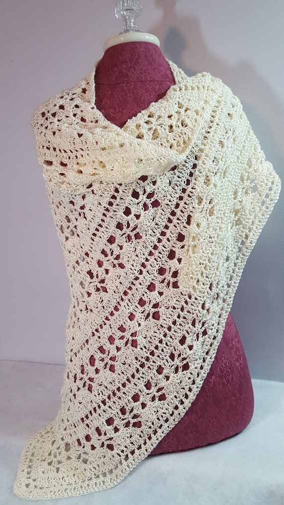 Crochet shawl, bridal accessory, openwork lace shawl, Mothers Day shawl, Victorian lace shawl, beach summer wedding, prom dress wrap, RTS