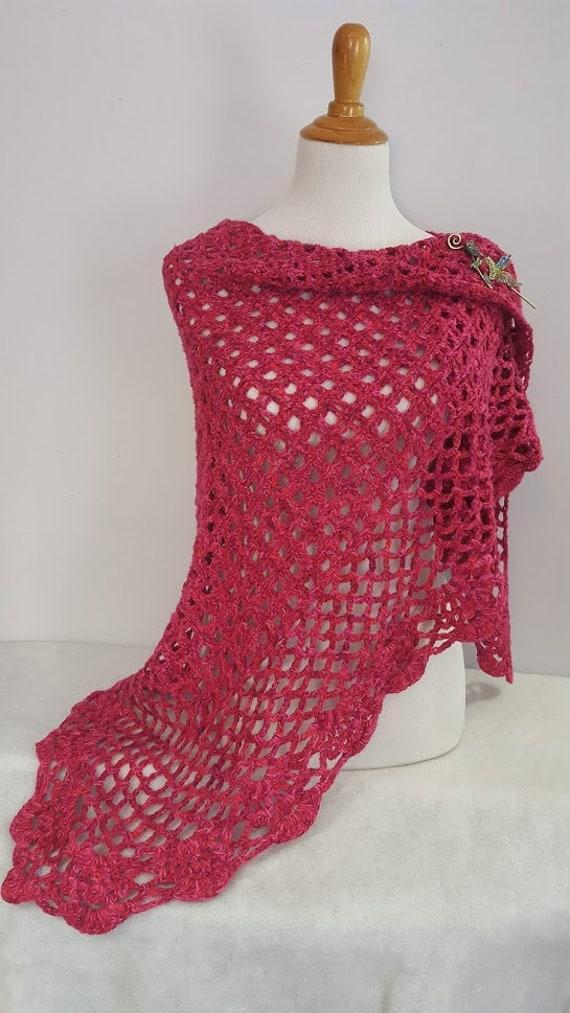 Wedding shawl, Valentines gift, handmade crochet wrap, bridesmaids dress accessory, gift for her, county wedding attire, summer wedding, RTS
