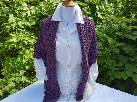 Winter shawl, crochet shawl, warm winter shawl, wedding shawl, Mothers Day caplet, country wedding shawl, bohemian shawl wrap