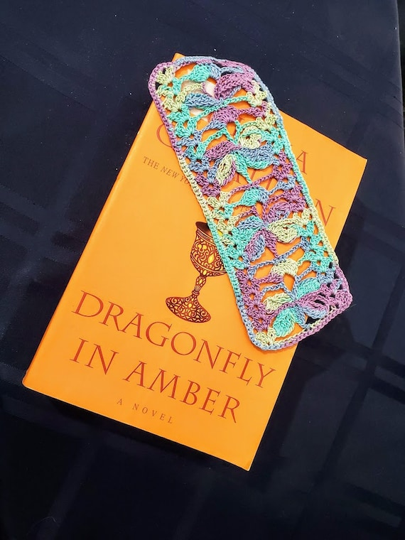 Outlander inspired dragonfly bookmark, handmade crochet bookmark