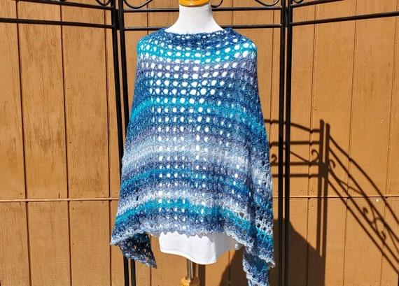 It's not easy being green poncho, beach coverup, summer bridesmaid poncho, country wedding accessory, boho chic 70s poncho, READY TO SHIP