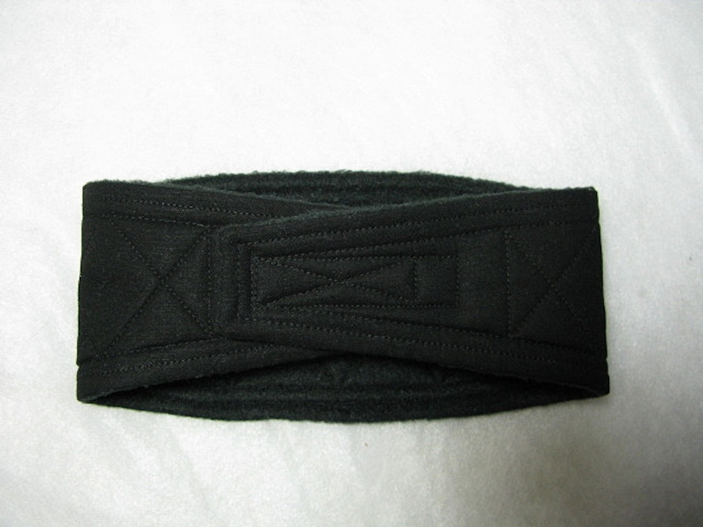 Belly Band Waist 30.00 x Width 7.75 inches Male Dog Wrap Diaper Belt by SewDog 3 Layers Quilted Padded #400 SOLID BLACK