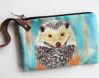 Hedgehog Wristlet Zipper Bag