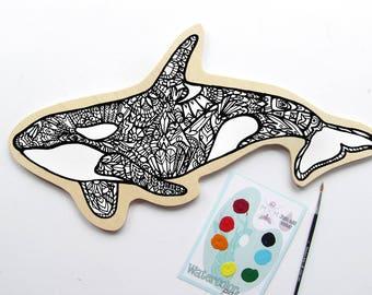 Orca  Painting Kit  - Paint Your Own Art Kit Killer Whale