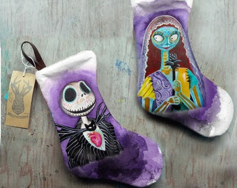 Stockings Nightmare before Christmas Jack Sally Zero Barrel