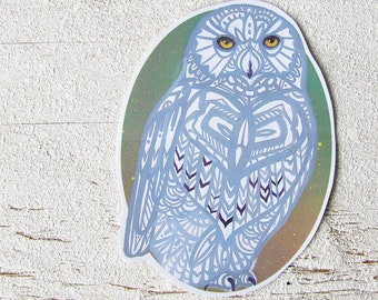 Snowy Owl Sticker Waterproof Decal