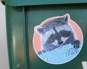 Raccoon Sticker - Waterproof Decal Trash Panda