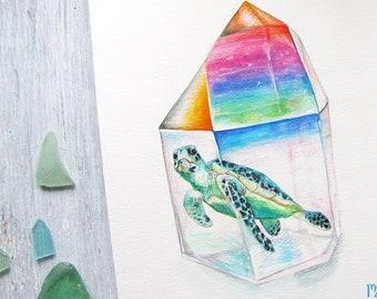 Custom Crystal Watercolor Painting
