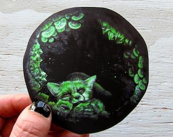 Fox Sticker - Waterproof Decal - Home Sweet Hollow Mushroom Surreal Art