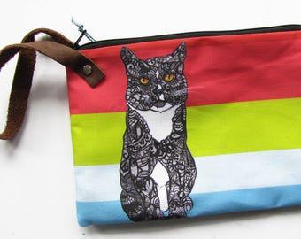 Cat Wristlet Zipper Bag - Jolly Roger