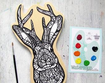 Jackalope Painting Kit  - Paint Your Own Art Kit