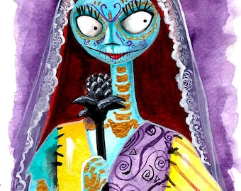 Sally Muertos - Nightmare Before Christmas Art Print