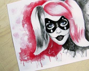 Harley Quinn Art Print - Batman Fan Art Suicide Squad