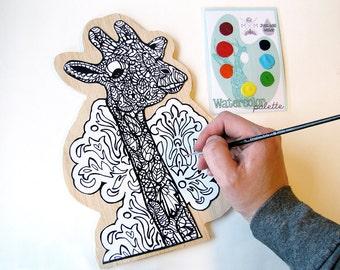 DIY Paint your own Art Giraffe Kit- Watercolor Painting Kit