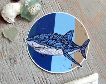 Great White Shark Decal- Waterproof Sticker