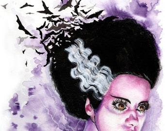 Bride of Frankenstein Art Print - We Belong Dead