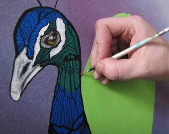 Custom Animal Zentangle Painting