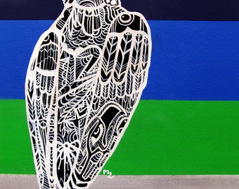 Seahawk Zentangle  Art Print -  Limited Edition