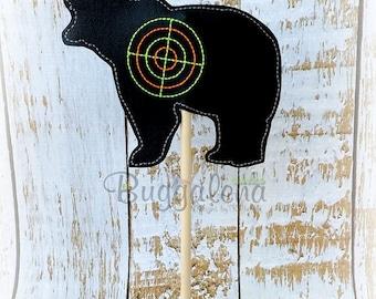Bear Target BuggaSign Embroidery Design