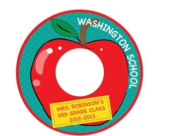 Red Apple  - Custom Printable CD Label & CD Case Cover/Insert